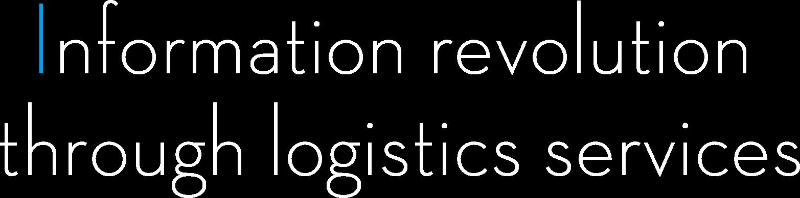 Information revolution through logistics services